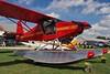 Just Aircraft Highlander amphibious floatplane, 'Aerial One', C-FDEP - Guelph Airpark, Ontario. (edk7) Tags: olympuspenliteepl5 edk7 2016 canada ontario guelph guelphairport cnc4 guelphairpark aerodrome tigerboysaeroplaneworksflyingmuseum annualairday2016 justaircrafthighlander snja2410511 2013 cfdep amphibiousfloatplane firefightermotif homebuilt amateurconstructed private civil civilian generalaviation vehicle aircraft plane airplane passenger aviation machine mechanical propeller propellor grass hangar canadianaviationregulationscar549 sky cloud car automobile aerialone