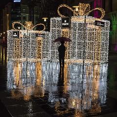 1T9A1770 (Victor Mitri) Tags: dancing night reflection chillout umbrella raining rain wet floor lights christmas dark bw photography lebanon beirut souks
