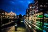 Streets of Malmö (Maria Eklind) Tags: bluehour bridge street water spegling city dusk canal davidshallsbron bro malmö sweden sky twilight blue kanal reflection building södraförstadskanalen södertull streetsofmalmö skånelän sverige se