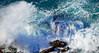 Atlantis (Vitor Estrela Santos) Tags: vitormes atlantis praiadoslagosteiros caboespichel beautifulnature beautifulworld blue waves rocks green clouds espuma parquenaturaldaarrábida arrábidanaturalpark