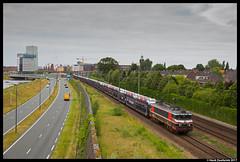 Captrain 1619, 's-Hertogenbosch 12-06-2017 (Henk Zwoferink) Tags: shertogenbosch noordbrabant nederland nl captrain rail force one henk zwoferink raillogix gefco 1619 alstom den boscho