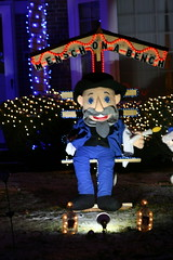 Mensch on a Bench (niureitman) Tags: hanukkah2017 2017 chanukah hanukkah lincolnwoodillinois lincolnwood illinois lincolnwoodtowers menschonabench bench mensch kippah yarmulke night outdoor light holidaylights lolidays jewishholidays