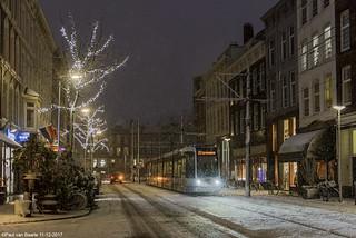 Rotterdam - RET tram in kerstsferen, 11-12-2017