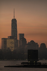 Hazy Hudson (sullivan1985) Tags: nyc newyork newyorkcity worldtradecenter freedomtower 1wtc oneworldtradecenter tower manhattan manhattanskyline downtown lowermanhattan hollandtunnel vent shaft hudsonriver hudsoncounty hazy cloudy morning sunrise