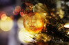 Using Bitcoin crypto currency for buying over Christmas holiday season (sugarbellaleah) Tags: christmas australia bitcoin currency money btc virtual online buy sell trade bauble seasonal december lights bokeh web binary code festive present ornament decoration concept monetary business gift blockchain finance global worldwide
