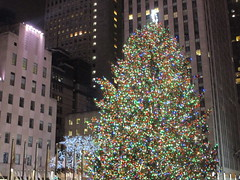 2017 Christmas Tree Rockefeller Center 5050 (Brechtbug) Tags: 2017 christmas tree rockefeller center with lights 12162017 nyc 30 rock new york city standing up above ice rink snow shoveling workers skating holiday decoration ornaments night lites light oversize load ornament midtown manhattan