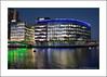 Blue Peter Building (prendergasttony) Tags: canal bridge bluepeter mediacity salford manchester night evening reflection nikon d7200 tonyprendergast outdoors lancashire england uk blue bbc