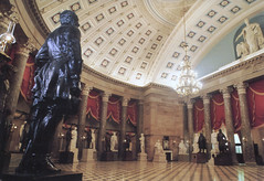 Washington DC  -  United States Capitol Building - National Statuary Hall  - HIstoric (Onasill ~ Bill Badzo) Tags: society capitol congress post card charles bullfinch latrobe b onasill vintage old washington dc united states building architecture national statuary hall nrhp beaux arts style photo historic capitolbuilding tours travel tourist attraction site architect must see dome ceiling