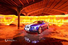 Mustang on fire 2 (NOCTOGRAFIA - Gabriel Glez.) Tags: gabrielglez noctografia wwwnoctografiacom mustang mustangonfire mustangshelby fordmustang firepainting firecar firewall realfire lightpaintingcar lightpainting longexposure nightphotography