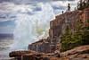 Acadia National Park, Maine (Greg from Maine) Tags: acadianationalpark ottercliff wave crashingwave landscape nature cliffs sky clouds mdi mountdesertisland barharbor barharbormaine sealharbor mountdesert trees granite
