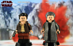 Custom LEGO Star Wars: The Last Jedi | Captain Poe Dameron & General Leia Organa (LegoMatic9) Tags: custom lego star wars the last jedi captain poe dameron general leia organa minifigures
