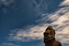 Enigma (Dwood Photography) Tags: enigmatic moai easter island easterisland rapa nui rapanui dwoodphotography dwoodphotographycom 2017 astrophotography astro star stars cloud blue white brown statue enigma