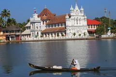 St Mary's Church, Kerala backwaters, near Alleppy (nick taz) Tags: kerala backwaters stmary church canoe india alley