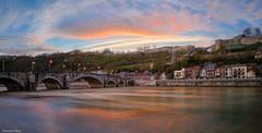 Namur - 4341 (YᗩSᗰIᘉᗴ HᗴᘉS +11 000 000 thx❀) Tags: bridge namur belgium pont belgique bel be bélgica belgia belgio blue belgië aaa europa water town red reflexion reflets réflection