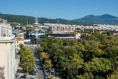 Turmbesichtigung - Blick zum Fernsehturm (PWeigand) Tags: chalkidiki thessaloniki θεσσαλονίκη decentralizedadministrationof griechenland decentralizedadministrationofmacedoniaandthrace
