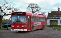 Eastern Counties LN546 (HVF546L) Dennington c1984 (BristolRE2007) Tags: bus easterncounties nationalbuscompany nbc suffolk leylandnational dennington