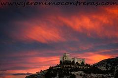 Spanish castles are magic (ser-y-star) Tags: castillo castle velezblanco almeria clouds nubes orange red sunset atardecer andalucia architecture mountain cloudscape