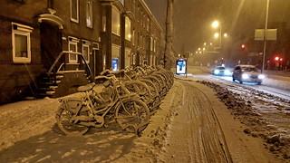 Oudenoord, Utrecht, sneeuw