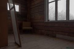 Resting place (kentkirjonen) Tags: dark winter frost farm lumix fz300 window old abandoned