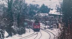 Last train before XMAS (PHOTOGRAPHY Toporowski) Tags: landscape schärfentiefe snow landschaft kalt kontrast winter licht cold schnee contrast light eschweiler nrwnordrheinwestfalen deutschland deu
