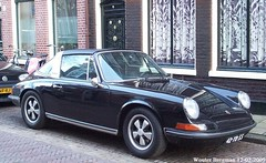 Porsche 911 Targa 1973 (XBXG) Tags: 42yb55 porsche 911 targa 1973 porsche911 911t black noir coupé coupe haarlem nederland holland netherlands paysbas vintage old classic german car auto automobile voiture ancienne allemande deutsch vehicle outdoor