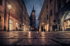 Krakow old town (Vagelis Pikoulas) Tags: krakow poland old town canon 6d tokina 1628mm view landscape city cityscape november autumn 2017 travel perspective blue hour