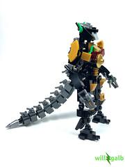 The Dragonzord (willgalb) Tags: lego moc power rangers mighty morphin mmpr dragonzord green figure toy robot dragon movie comic 1993 2017 reboot tommy rita repulsa goldar zord dinozord megazord