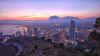 (867/17) La ciudad de los rascacielos (Pablo Arias) Tags: pabloarias photoshop photomatix capturenxd españa cielo nubes arquitectura ciudad paisaje edificio noche luna montaña luces benidorm alicante