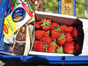 Grocery Basket (PDX Flyer) Tags: food strawberry red grocery basket cart grapes smileonsaturday redrules