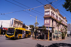 Newtown - Riddiford Street (andrewsurgenor) Tags: transit transport publictransport nzbus gowellington electric trackless trolleybus trolleybuses wellington nz streetscenes bus buses omnibus yellow obus busse citytransport city urban newzealand