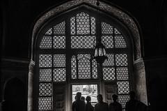step into the light (Pejasar) Tags: blackandwhite bw arch light dark door window geometric shapes india