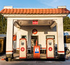 1930's flying gasoline pumps (pbo31) Tags: bayarea california nikon d810 color december 2017 winter boury pbo31 livermore eastbay alamedacounty gas station petrol vintage historic portola pump old service trivalley auto car motorcycle sidecar roadway lincolnhighway l