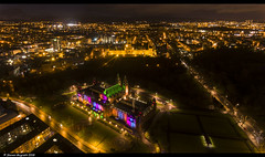 Kelvingrove Art Galleries Glasgow (Steven Mcgrath (Glesgastef)) Tags: kelvingrove art galleries lights new years day year 2018 glasgow scotland uk scotish urban city drone dji phantom 4 uni university glasgowuniversity