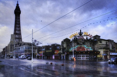 Blackpool, New Years Day 2018 (Kev Walker ¦ 7 Million Views..Thank You) Tags: blackpool taxis tower rain reflections clouds lancashire seaside canon1855mm