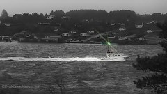 Coast Guard to the rescue. (evakongshavn) Tags: ship coastguard rescue boat water waterscape sealine seashore sea seascape ocean northsea rogaland haugesund extremeweather weather storm windy wind light help goodhelpers monochrome bw bnwphoto bnw blacknwhite blackandwhite blackwhite