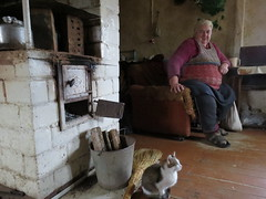 Whispering Babushka and her cat, in a Grodno village (A-T-E-L) Tags: belarus poland whisperingbabushkas grodnodistrict raphaellemkin genocide internationallaw environmentalactivists bialowiezcaforest