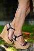 Wedges (Ana´s feet) Tags: feet foot toes dangling heels pies soles mujer girl woman