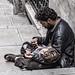 Mendigo y su hijo, Estambul, Turquía