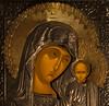 Madonna Icon- 3x3 (Peeb-OK) Tags: macromondays litbycandlelight mary jesus christmas religious candle icon nikon longexposure