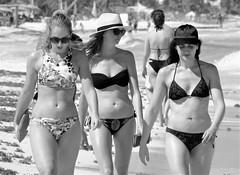 Beach scene (thomasgorman1) Tags: beach tulum monochrome bw candid public women bikini resort tourism mexico riviera maya outdoors sand