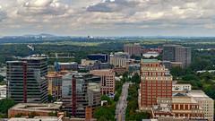 Atlanta, GA: Looking up Peachtree Street gulch north of 16th Street from Colony Square Helipad (nabobswims) Tags: atlanta ga georgia hdr highdynamicrange lightroom midtownatlanta nabob nabobswims openhouseatlanta photomatix sel18105g sonya6000 us unitedstates