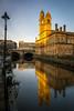 Paisley town hall and river Cart (stuartallan38) Tags: iamnikon nikond7100 nikon1685 paisley townhall clock rivercart colour colourful scottish scotland reflections history