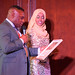 DSC_6803 Black British Entertainment Awards BBE Dec 2017 at Porchester Hall London with Jean Gasho Co Founder of BBE with Muna Jama Miss Universe UK Global Humanitarian Award Presented by Councillor David Agbley Luton Deputy Mayor and Ayan Said Co-Host