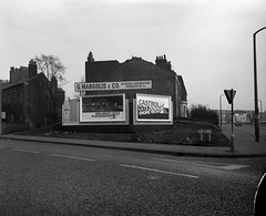 Negative No: 1968-0503 - Negatives Book Entry: 01-03-1968_CP_Balmfield Street Cheetham CPO_View of Objectors Properties (archivesplus) Tags: manchester england 1960s townhallphotographerscollection heywood advertising publicités affiches castrol car