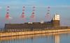 Fort Perch Rock and Shipyard (Mister Oy) Tags: davegreen oyphotos ©oyphotos fortperchrock castle fort newbrighton shipyard cranes reflection liverpool d850 85mm nikon85mmf14gafs coast defences museum radio four fog foggy weather mersey river nikon wirral wallasey