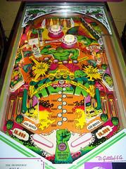 The Incredible Hulk (scottamus) Tags: pinball machine game table arcade playfield art artwork graphics design layout theincrediblehulk gottlieb 1979