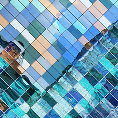 - reflections - (Jacqueline ter Haar) Tags: windows office amsterdam sloterdijk reflection colours explore diagonal dpa