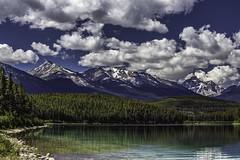 Pyramid Lake (Detail) redux [Explored] (Don Price (jr)) Tags: landscape ef70200mmf4lusm 6d canon donprice alberta lake water clouds jaspernationalpark jasper canada rockymountains