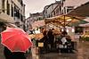 rainy day (poludziber1) Tags: street streetphotography skyline sky city colorful cityscape color colorfull urban umbrella red people venice venezia italia italy light