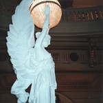 Pennsylvania State Capitol  - Harrisburg Pennsylvania  -  Grand Staircase Statue Light Fixture thumbnail